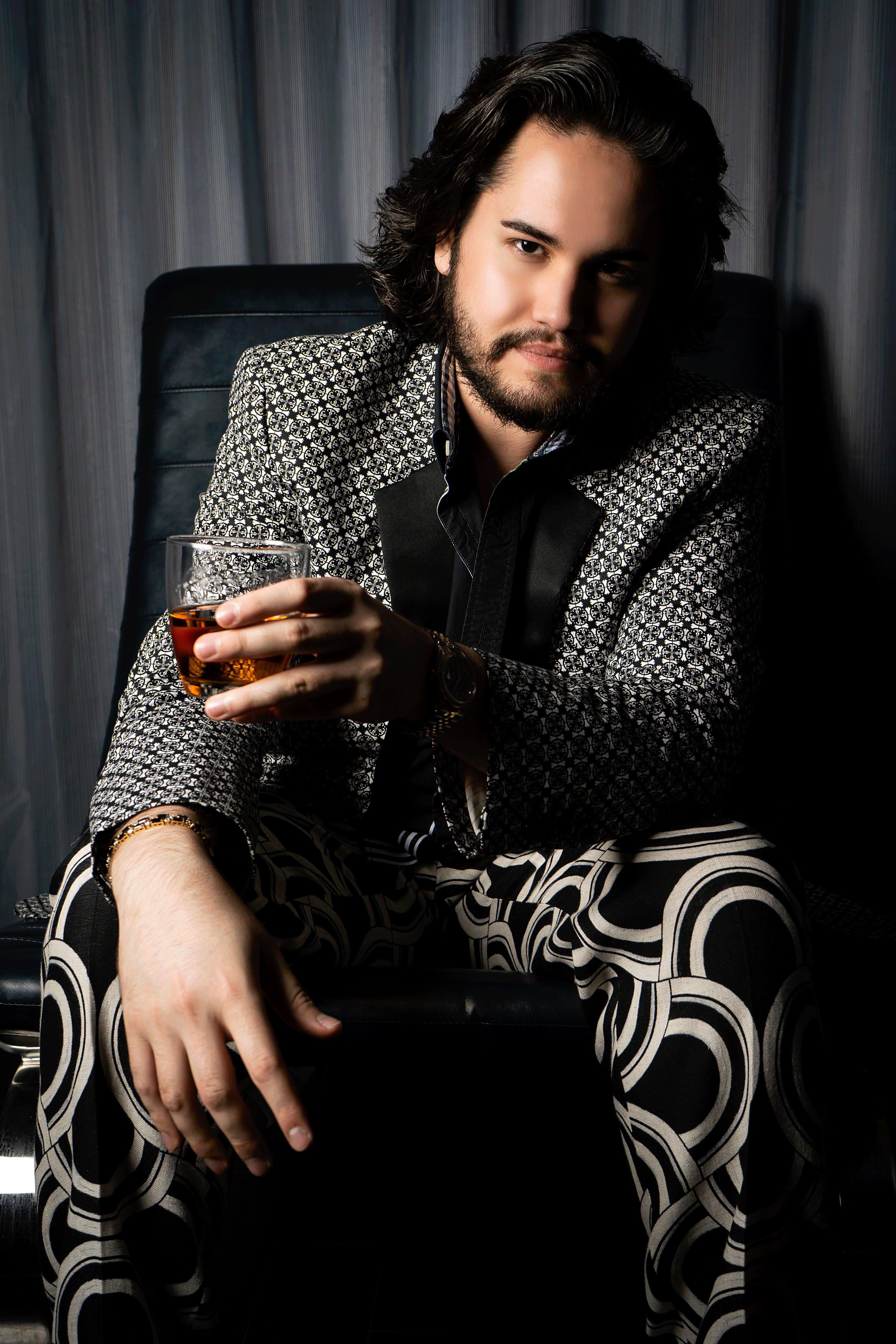 Roman Alexander Wellington Sitting With A Whisky Glass